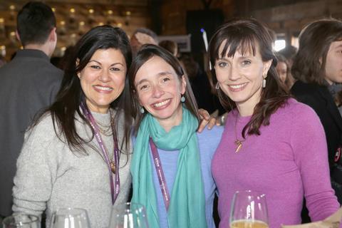 Filmmakers Susan Wrubel, Kattie Kotok and Sarah Lash at We Are UK Film reception, Sundance 2016